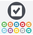 Check mark sign icon Checkbox button