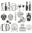 beer and wine vector image