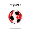 flag of peru as an abstract soccer ball vector image