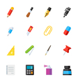 Stationery and Painting tools icons vector image