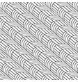 stylish black and white line curve graphic pattern vector image