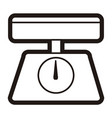 kitchen scale icon vector image