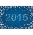 2015 title from snowflakes vector image vector image
