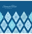 abstract blue doodle rhombus horizontal vector image vector image