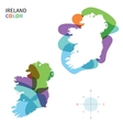 Abstract color map of Ireland vector image
