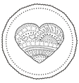 Adult coloring book page heart shaped vector image vector image