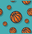basketball themed seamless pattern with basketball vector image