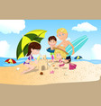 beach family vacation vector image vector image