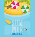 beach flat design background vector image vector image