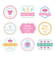 beautiful badges for 8 march vector image