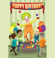 birthday party clown vector image