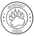 black and white bear paw vector image vector image