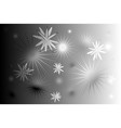 black whitte stars background vector image vector image