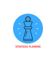 blue round strategic planning logo vector image