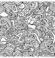Cartoon cute doodles hand drawn Idea seamless vector image vector image