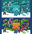 cartoon graffiti style sports collage graffiti vector image vector image