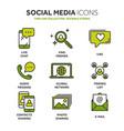 communication social media online chatting vector image