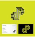 d and p letters monogram consist some line vector image vector image