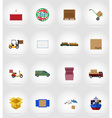 delivery flat icons 17 vector image vector image