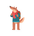 dog traveling with backpack animal cartoon vector image vector image
