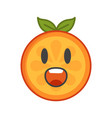 emoji - scream orange smile isolated vector image vector image