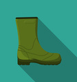 flat design modern rubber boot icon camping vector image