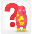 funny monster thinking vector image vector image