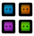 glowing neon cryptocurrency concept bitcoin in vector image vector image