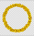 golden wreath with yellow leaves vector image vector image