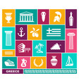 greece traditional symbols flat icons vector image
