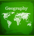 green geography background vector image vector image