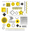 grunge stamp trendy geometric shape template vector image vector image