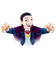 halloween cartoon dracula vector image vector image