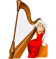 harp vector image