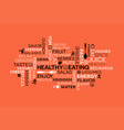 healthy eating themed word cloud with icons vector image