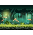 horizontal seamless forest vector image vector image