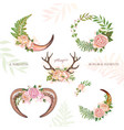 horn and cow horn decoration vector image vector image