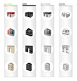 house residential building and other web icon vector image