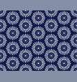 indigo blue hand drawn seamless pattern vector image vector image