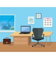 Interior Office Room for Design vector image vector image