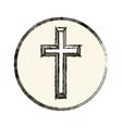 Isolated religion cross design