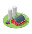Isometric 3d of farm vector image vector image