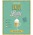 latte vector image vector image