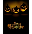 Laughing Halloween lanterns vector image vector image