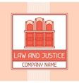 Law and justice company name concept emblem vector image vector image