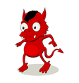 Little Red Devil vector image vector image