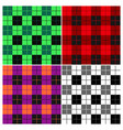 lumberjack plaid pattern set vector image vector image