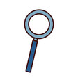magnifying glass symbol vector image vector image