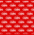 merry christmas hand lettering seamless pattern vector image