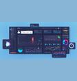 modern dashboard design mockup vector image vector image